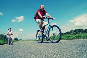 fietsen in de polders